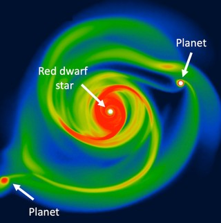 """Protoplanetary discs swirling around new stars offer clue to 'fast and furious' gas giant mystery围绕新恒星旋转的原行星盘为""""快速而猛烈""""的气体巨星之谜提供了线索"""