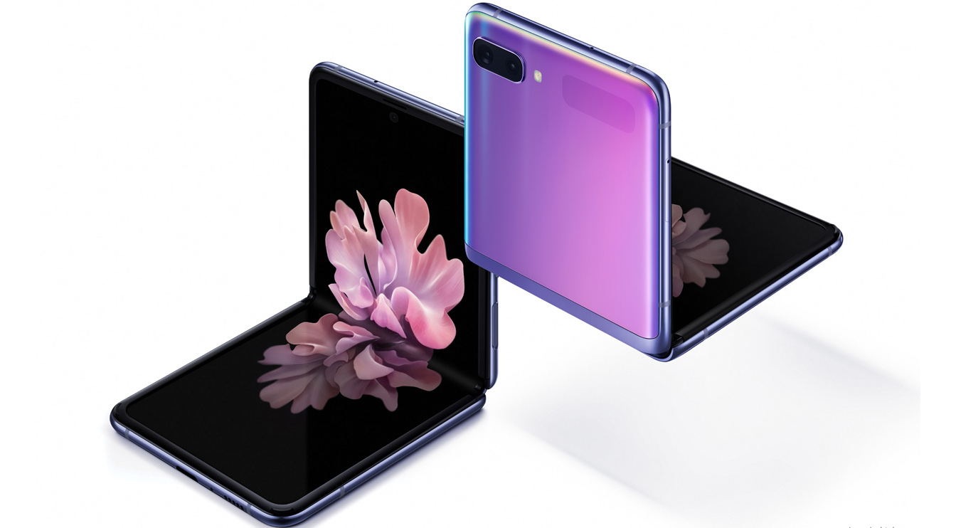 "The Samsung Announces the Galaxy Z Flip with a Folding Glass Display and 'Hideaway Hinge'三星发布带有可折叠玻璃显示屏和""隐藏式铰链""的Galaxy Z Flip"