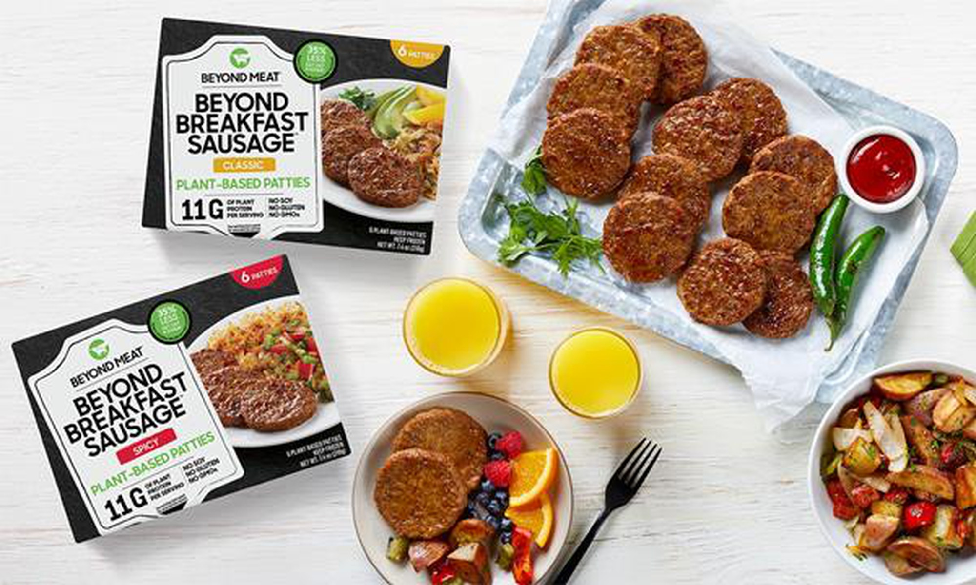 Beyond Meat Rolls Out Breakfast Sausages Nationwide超越肉类在全国范围内推出早餐香肠
