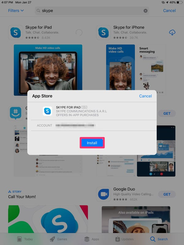 How to use Skype on an iPad to call or chat with your contacts如何在iPad上使用Skype与联系人通话或聊天